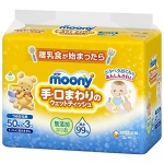Moony hands and mouth baby wipe refill 50*3