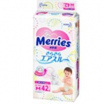 Merries Nappy M size (6-11KG) 42PC